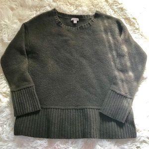 💫 J. Jill | Wool Blend Olive Waffle Knit Sweater